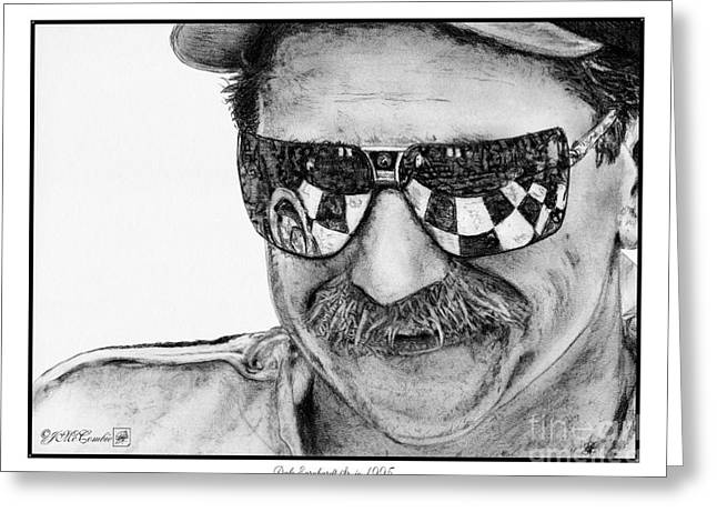 Mccombie Greeting Cards - Dale Earnhardt Sr in 1995 Greeting Card by J McCombie