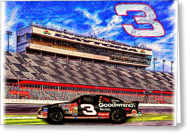 Earnhardt Digital Greeting Cards - Dale Earnhardt Sr - The Intimidator Greeting Card by Charles Ott