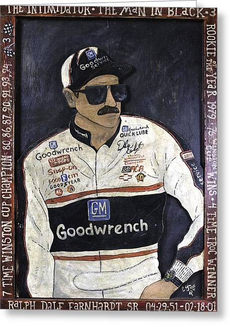 Recently Sold -  - Endorsement Greeting Cards - Dale Earnhardt Sr. - The Intimidator Greeting Card by Eric Cunningham