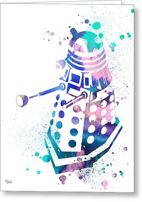 Doctor Who Greeting Cards - Dalek 2 Greeting Card by Luke and Slavi