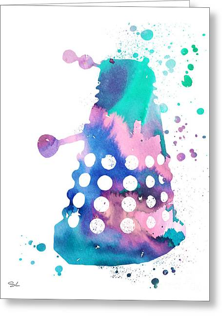 Doctor Who Greeting Cards - Dalek Greeting Card by Luke and Slavi