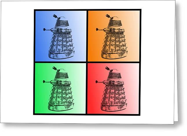 Dalek Pop Art Greeting Card by Richard Reeve