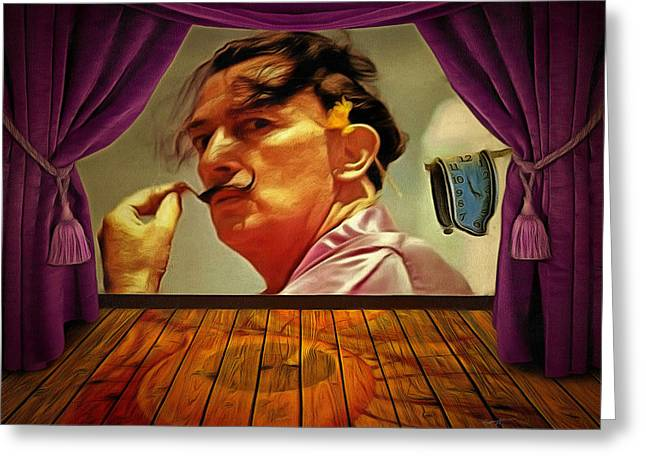 Mustaches Digital Greeting Cards - Dali Greeting Card by Anthony Caruso