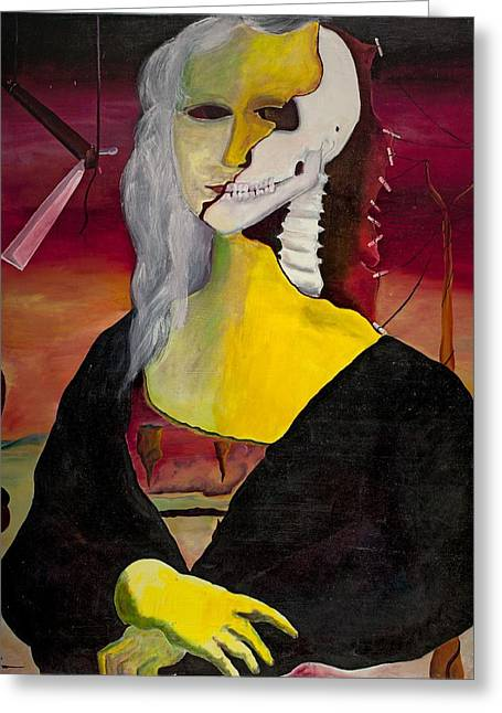 Esque Greeting Cards - Dali Lisa Greeting Card by Roger Barr