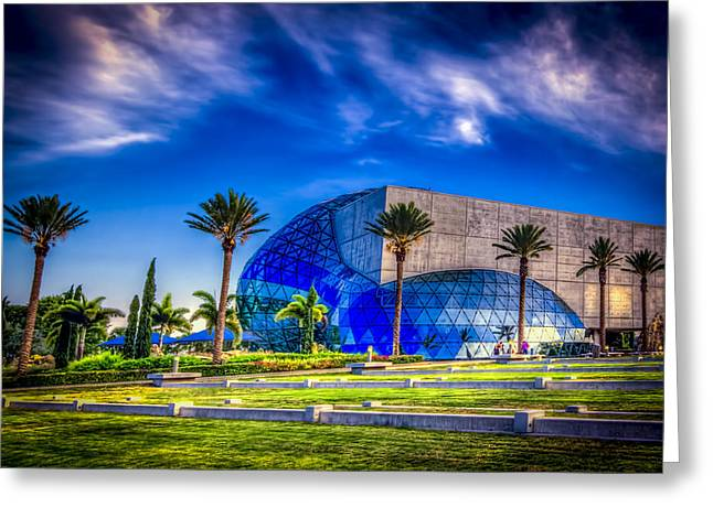 Glass.blue Greeting Cards - Dali Museum Greeting Card by Marvin Spates