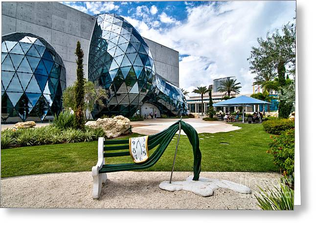 Bench Greeting Cards - Dali Museum Saint Petersburg Florida Greeting Card by Amy Cicconi
