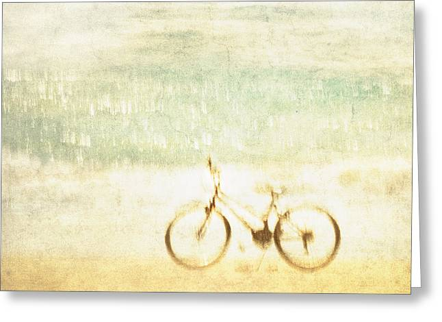 Dali Greeting Cards - Dalis bike by the sea Greeting Card by Constance Fein Harding