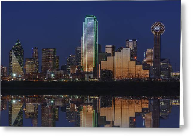 Highway Lights Greeting Cards - Dallas Aglow Greeting Card by Rick Berk