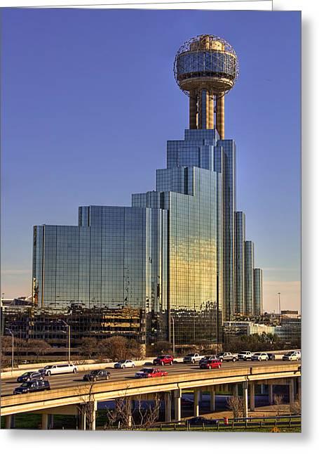 Hyatt Hotel Greeting Cards - Dallas Architecture Greeting Card by Ricky Barnard