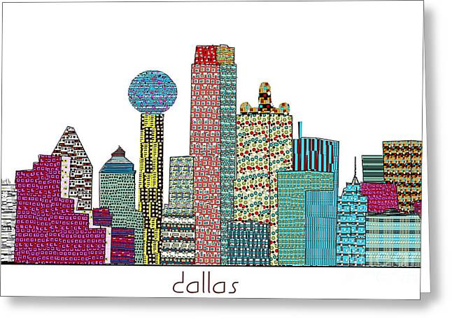 Art Of Building Greeting Cards - Dallas city Greeting Card by Bri Buckley