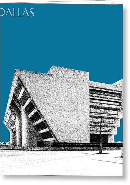 City Hall Greeting Cards - Dallas Skyline City Hall - Steel Greeting Card by DB Artist