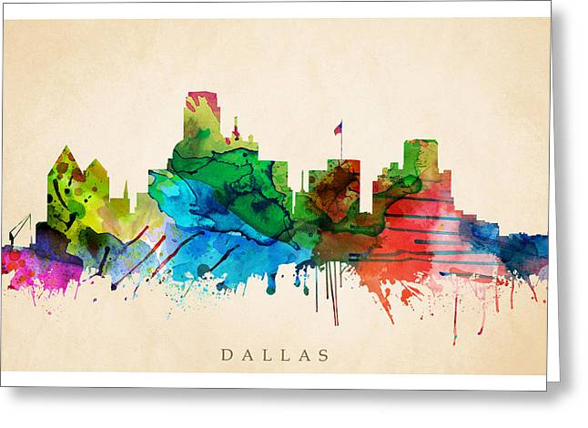 Steve Will Greeting Cards - Dallas Cityscape Greeting Card by Steve Will