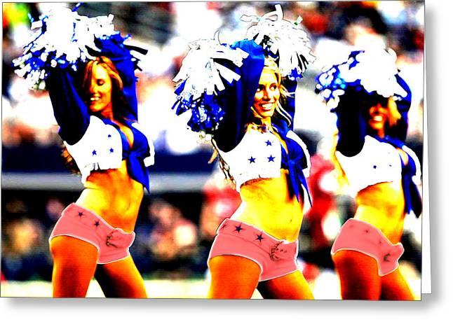 Cowboys Cheerleaders Greeting Cards - Dallas Cowboys Cheerleaders Greeting Card by Brian Reaves