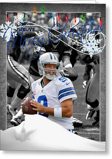 Team Greeting Cards - Dallas Cowboys Christmas Card Greeting Card by Joe Hamilton