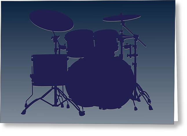 Drum Greeting Cards - Dallas Cowboys Drum Set Greeting Card by Joe Hamilton