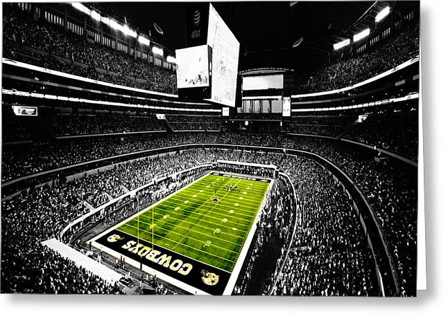 Dorsett Greeting Cards - Dallas Cowboys Football Stadium Greeting Card by Brian Reaves