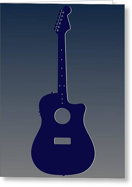 Concert Bands Photographs Greeting Cards - Dallas Cowboys Guitar Greeting Card by Joe Hamilton