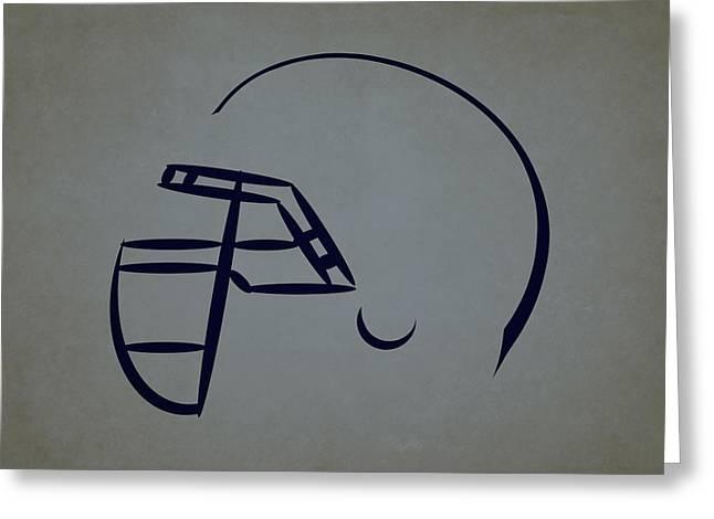 Dallas Cowboys Greeting Cards - Dallas Cowboys Helmet Greeting Card by Joe Hamilton