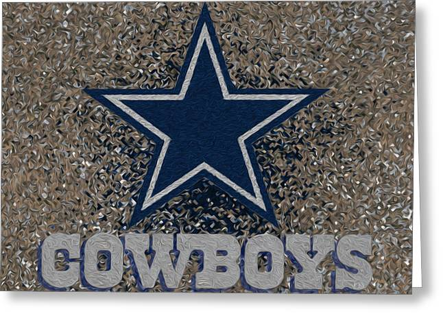 Best Sellers -  - Division Greeting Cards - Dallas Cowboys Greeting Card by Jack Zulli