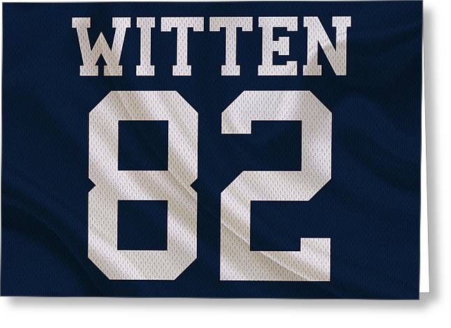Witten Greeting Cards - Dallas Cowboys Jason Witten Greeting Card by Joe Hamilton