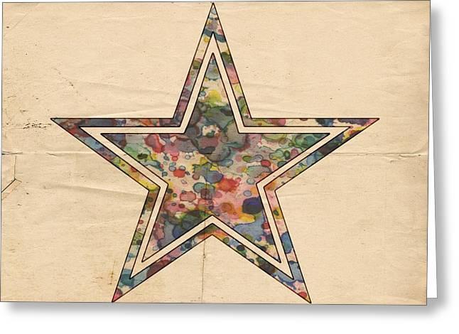 Dallas Cowboys Logo Art Greeting Card by Florian Rodarte