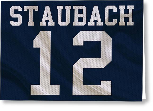 Staubach Greeting Cards - Dallas Cowboys Roger Staubach Greeting Card by Joe Hamilton