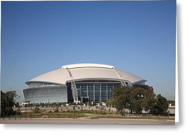 Dallas Cowboys Stadium Greeting Card by Frank Romeo