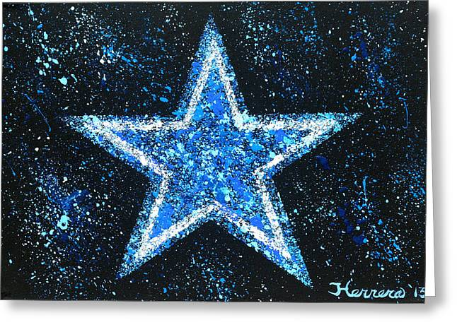 Witten Greeting Cards - Dallas Cowboys Greeting Card by Tony Herrera