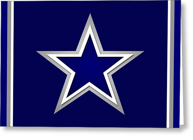 Champs Mixed Media Greeting Cards - Dallas Cowboys Greeting Card by Tony Rubino
