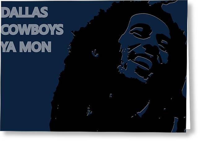Dallas Cowboys Greeting Cards - Dallas Cowboys Ya Mon Greeting Card by Joe Hamilton