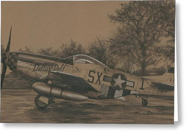 Spitfire Drawings Greeting Cards - Dallas Doll Greeting Card by Wade Meyers