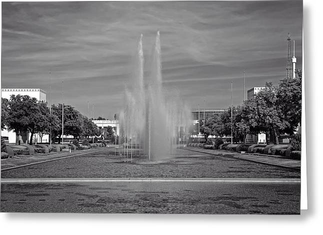 Esplanade Outdoors Greeting Cards - Dallas Fair Park Fountain Greeting Card by Mountain Dreams