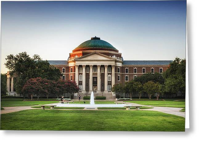 University School Greeting Cards - Dallas Hall - Southern Methodist University Greeting Card by Mountain Dreams