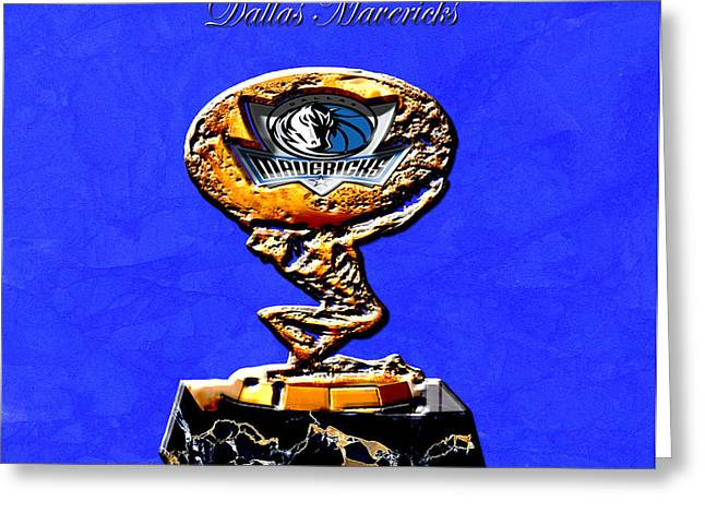 Dallas Mavericks Greeting Cards - Dallas Mavericks Greeting Card by Brian Reaves