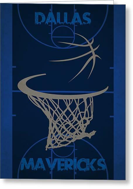 Maverick Greeting Cards - Dallas Mavericks Court Greeting Card by Joe Hamilton