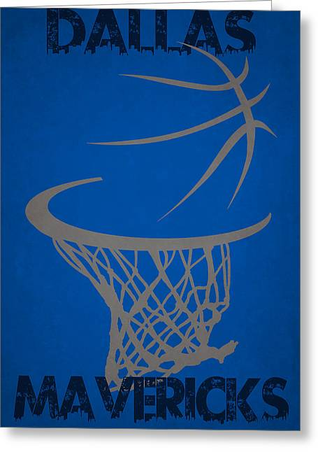 Maverick Greeting Cards - Dallas Mavericks Hoop Greeting Card by Joe Hamilton