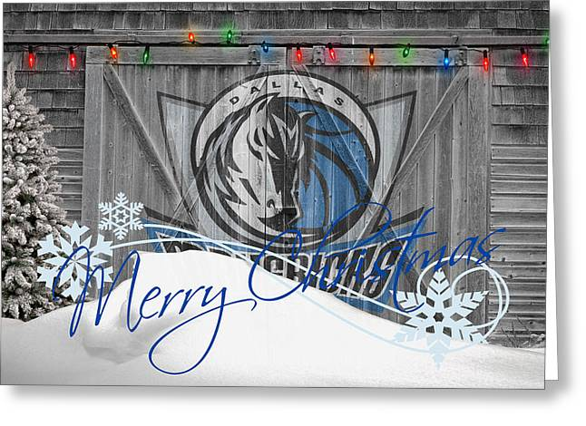 Dunk Photographs Greeting Cards - Dallas Mavericks Greeting Card by Joe Hamilton