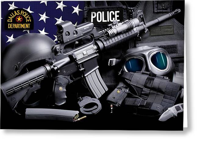 Police Department Greeting Cards - Dallas Police Greeting Card by Gary Yost