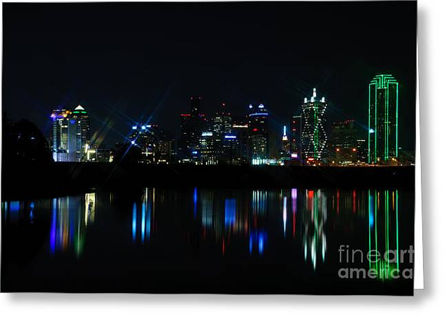 Creative Photography Pictures Greeting Cards - Dallas Reflections Greeting Card by Charles Dobbs