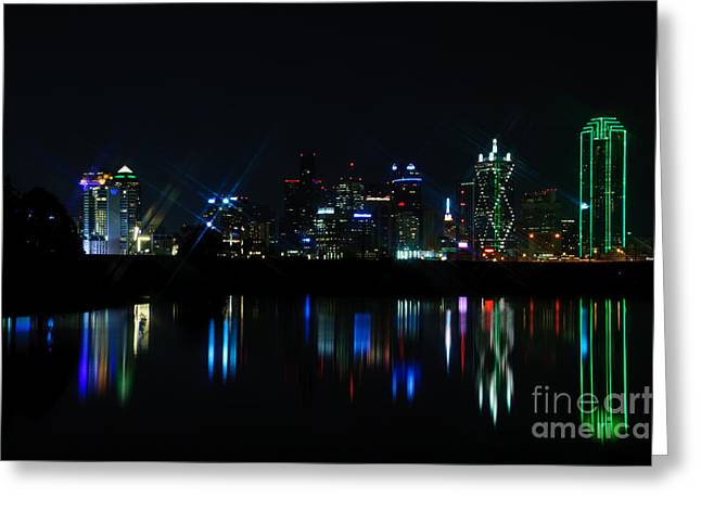 Metroplex Greeting Cards - Dallas Reflections Greeting Card by Charles Dobbs