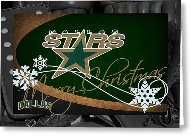 Star Barn Greeting Cards - Dallas Stars Christmas Greeting Card by Joe Hamilton