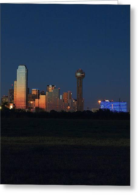 Metroplex Greeting Cards - Dallas Sunset Greeting Card by Jonathan Davison