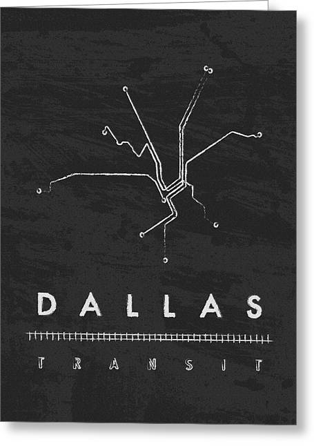 Lone Horse Greeting Cards - Dallas Transit 2 Greeting Card by Damon Gray