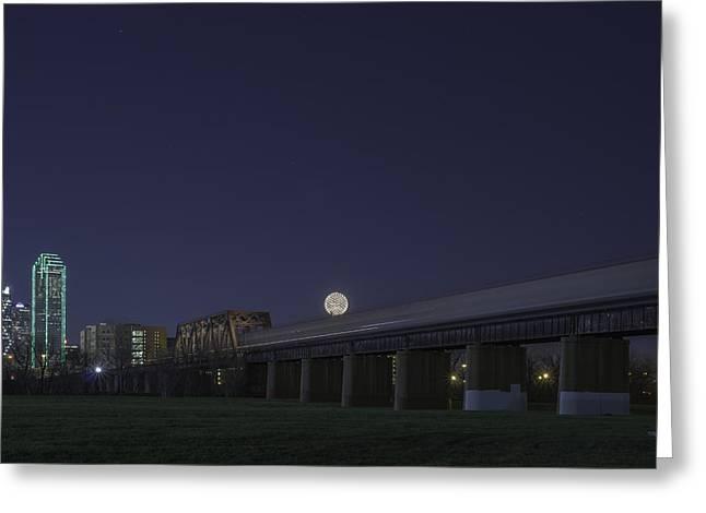 Metroplex Greeting Cards - Dallas Transit Greeting Card by Jonathan Davison
