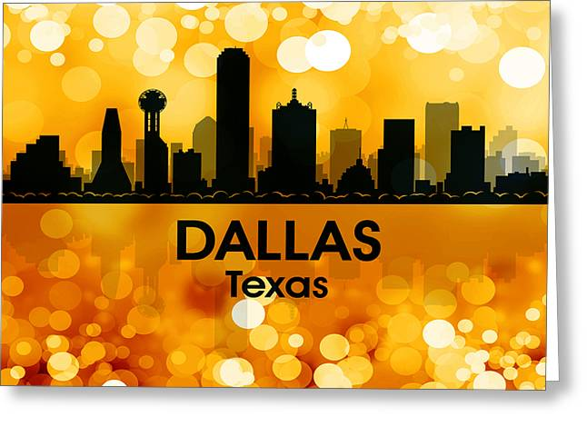 Concrete Jungle Mixed Media Greeting Cards - Dallas TX 3 Greeting Card by Angelina Vick