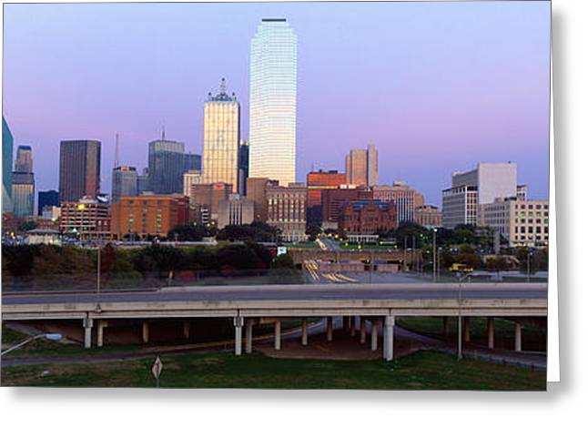Roadway Greeting Cards - Dallas Tx Greeting Card by Panoramic Images