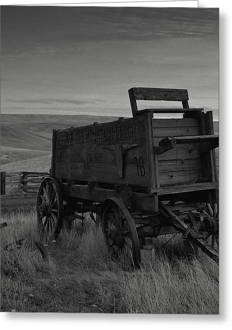 Old Western Photos Greeting Cards - Dalles Mountain Ranch Greeting Card by David M