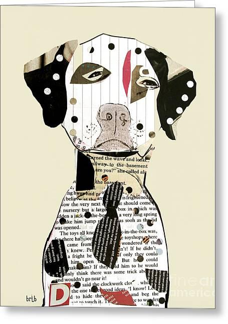 Limited Edition Mixed Media Greeting Cards - Dalmatian Dog Greeting Card by Bri Buckley