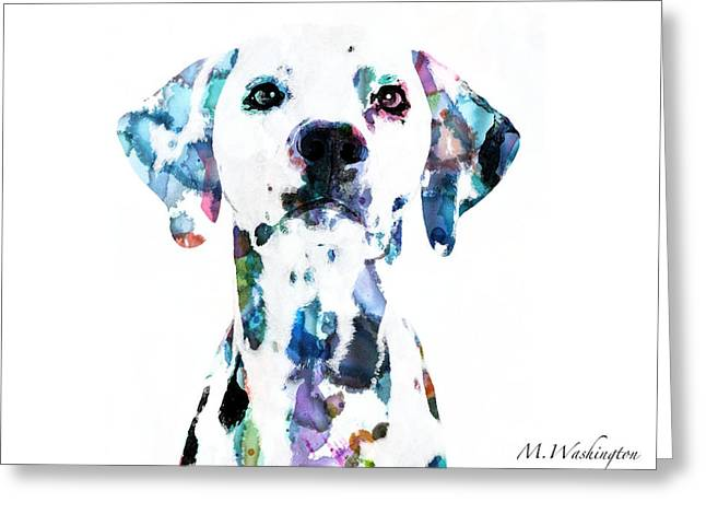 Dalmatian Greeting Card by Megan Washington