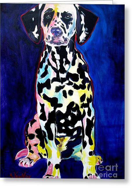 Dalmatian - Polka Dots Greeting Card by Alicia VanNoy Call